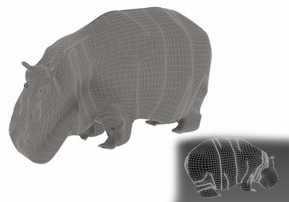 hippopotamus 3d model 3ds max fbx c4d dae  279099