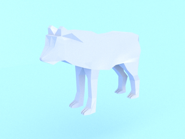low poly wolf 3d model 3ds max fbx c4d dae obj 279152