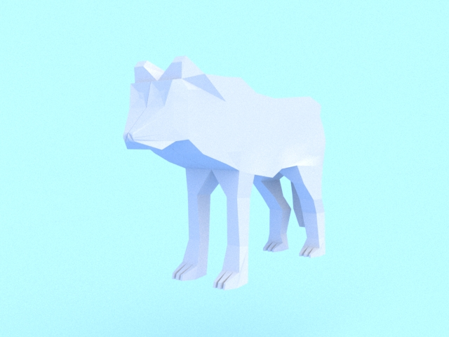 low poly wolf 3d model 3ds max fbx c4d dae obj 279153