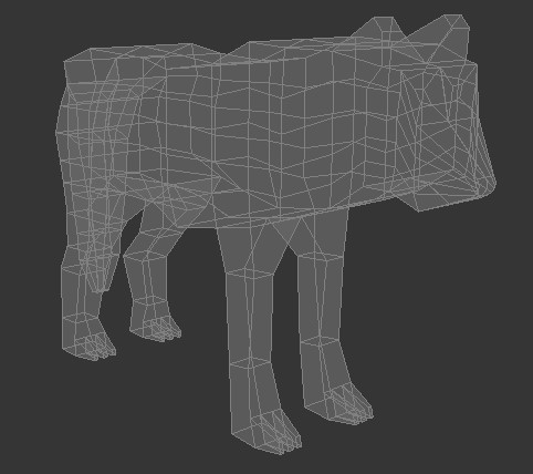 low poly wolf 3d model 3ds max fbx c4d dae obj 279154