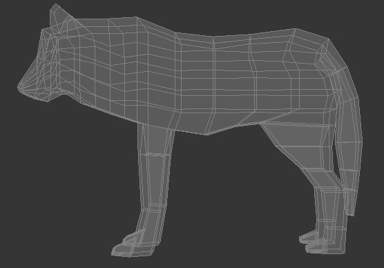low poly wolf 3d model 3ds max fbx c4d dae obj 279155