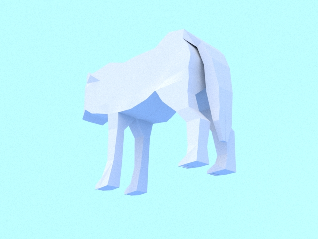 low poly wolf 3d model 3ds max fbx c4d dae obj 279156
