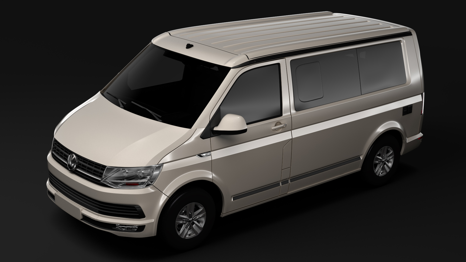 vw california t6 2018 3d model buy vw california t6 2018. Black Bedroom Furniture Sets. Home Design Ideas
