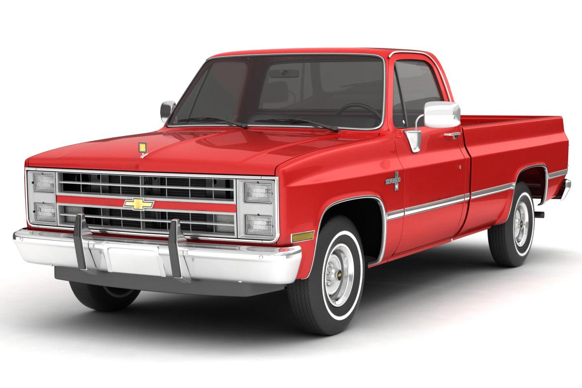 1985 chevrolet c10 silverado 2wd 3d model 3ds max fbx obj 279266