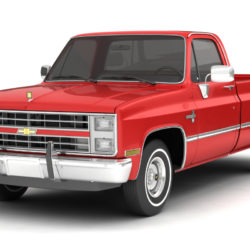 1985 CHEVROLET C10 SILVERADO 2WD 3d model high poly 3ds max fbx obj