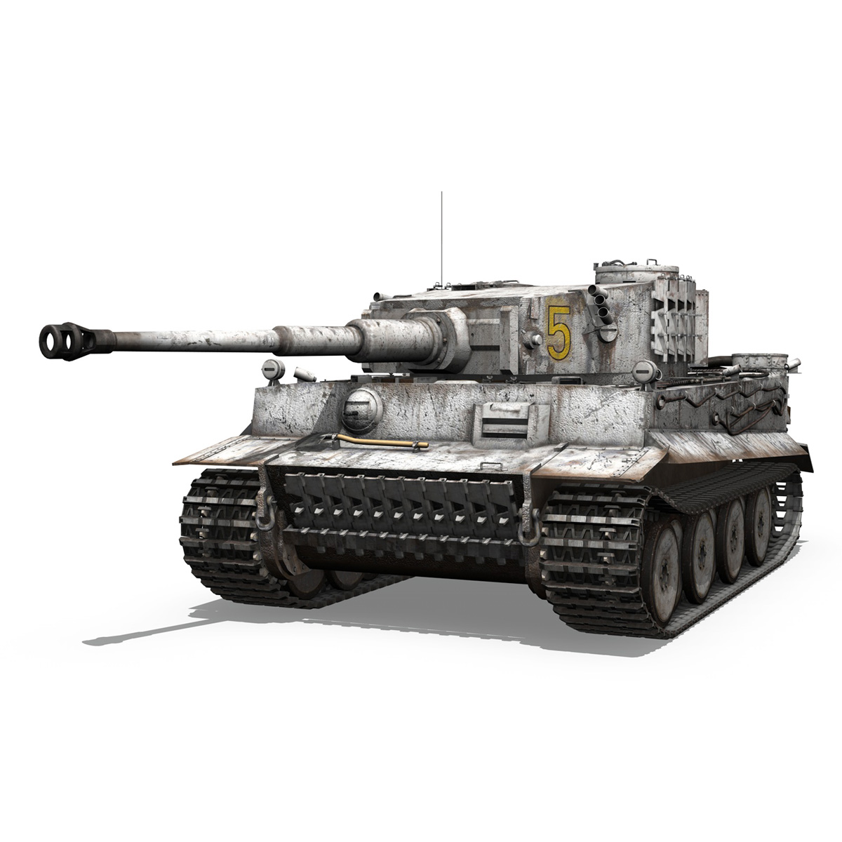 panzer vi – tiger – 5 – early production 3d model 3ds c4d lwo obj 279352