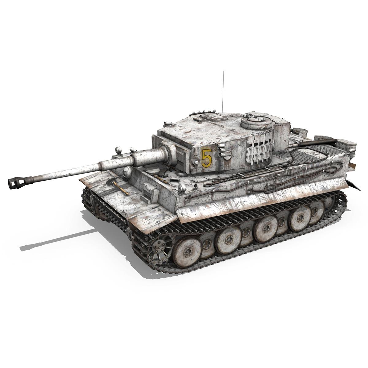 panzer vi – tiger – 5 – early production 3d model 3ds c4d lwo obj 279353