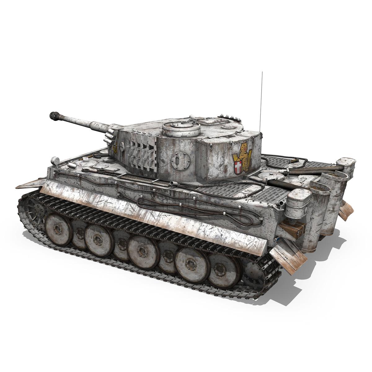 panzer vi – tiger – 5 – early production 3d model 3ds c4d lwo obj 279354