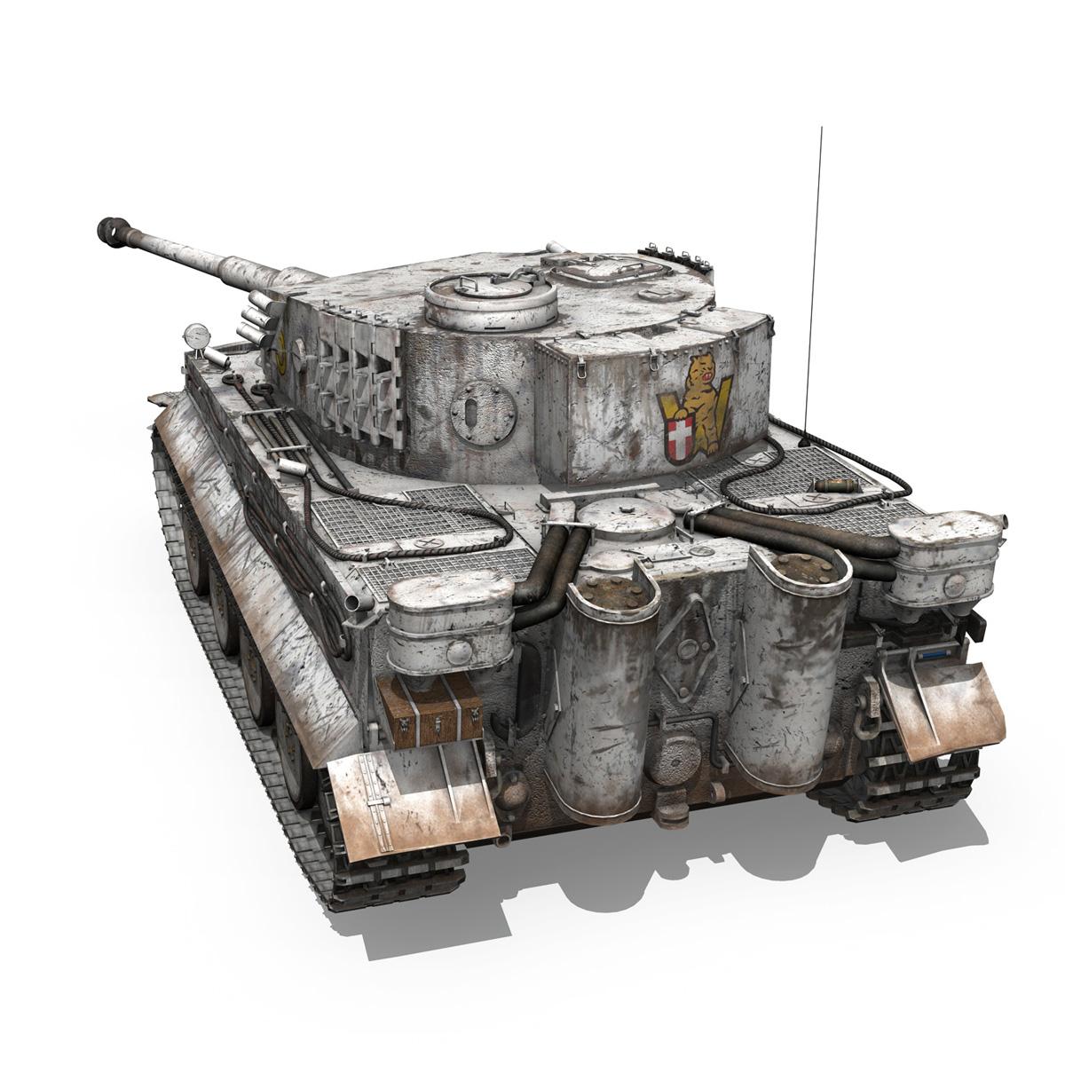 panzer vi – tiger – 5 – early production 3d model 3ds c4d lwo obj 279355