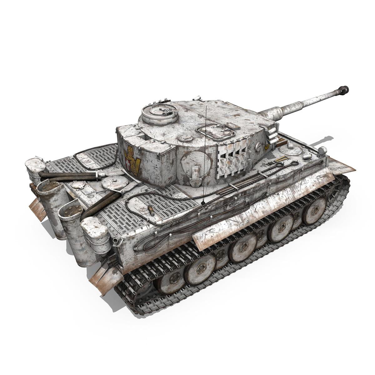 panzer vi – tiger – 5 – early production 3d model 3ds c4d lwo obj 279356