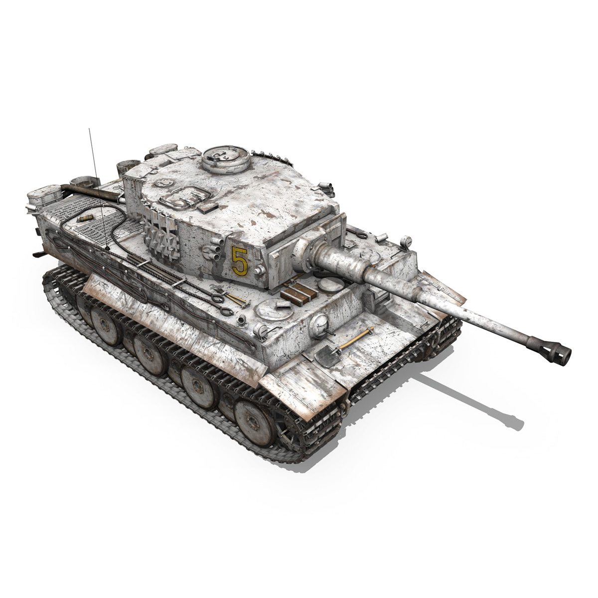 panzer vi – tiger – 5 – early production 3d model 3ds c4d lwo obj 279357