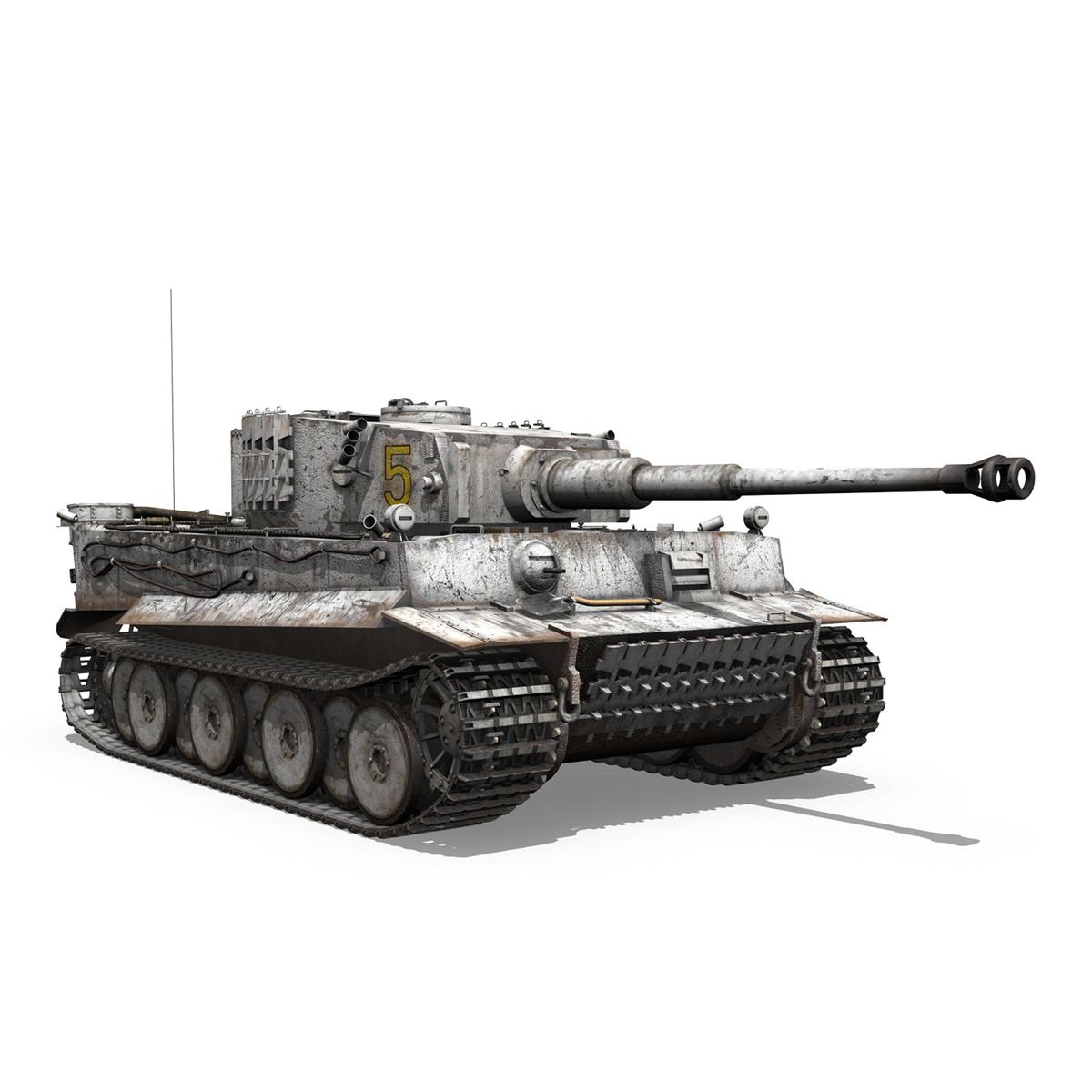 panzer vi – tiger – 5 – early production 3d model 3ds c4d lwo obj 279358