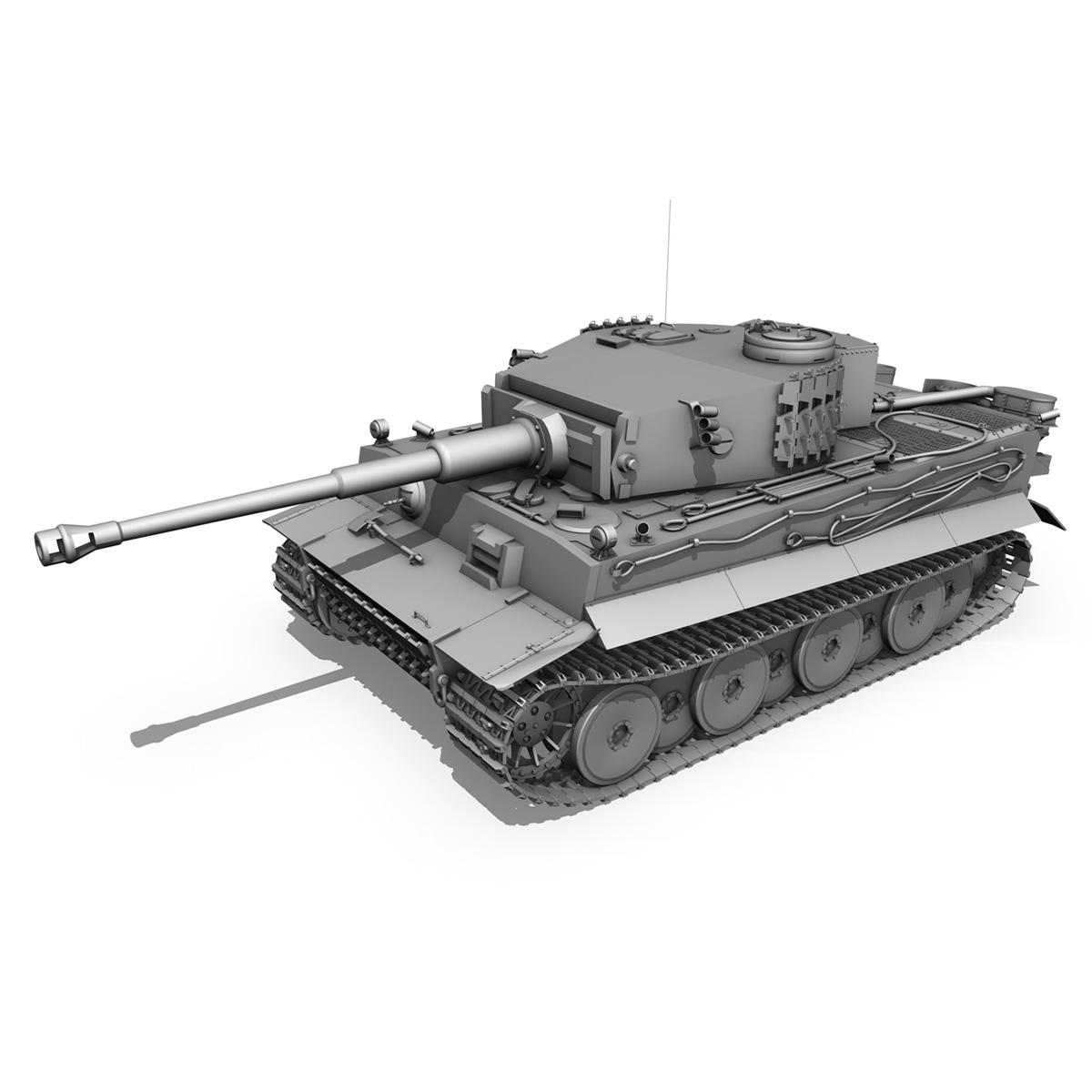 panzer vi – tiger – 5 – early production 3d model 3ds c4d lwo obj 279361