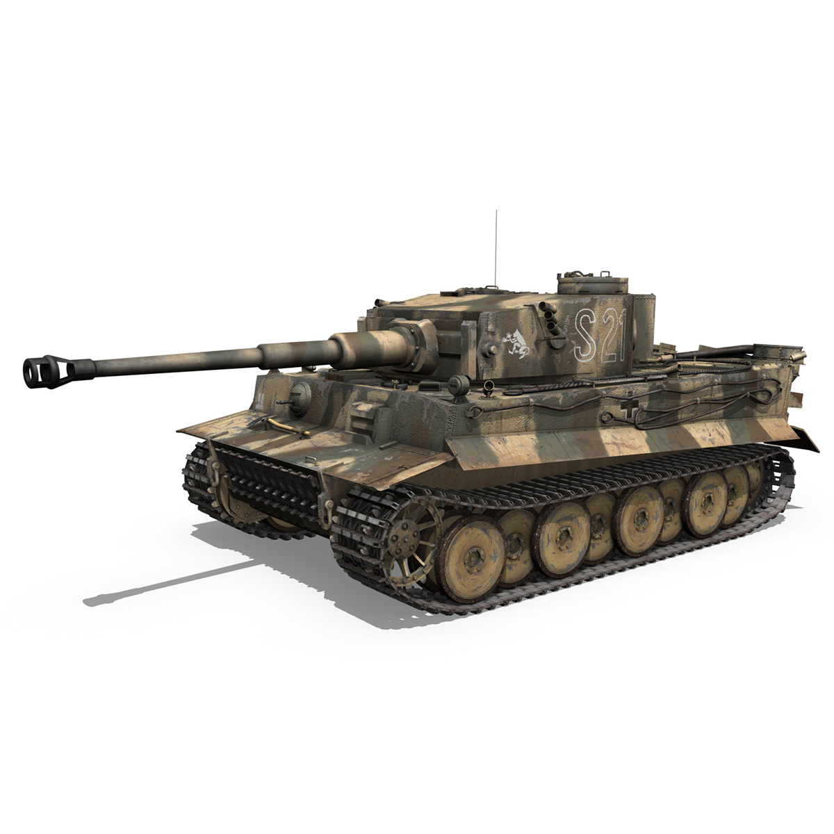 panzer vi – tiger – s21 – early production 3d model 3ds c4d lwo 279370