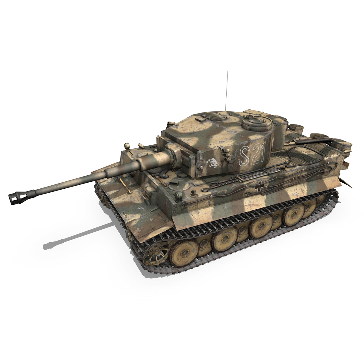 panzer vi – tiger – s21 – early production 3d model 3ds c4d lwo 279371