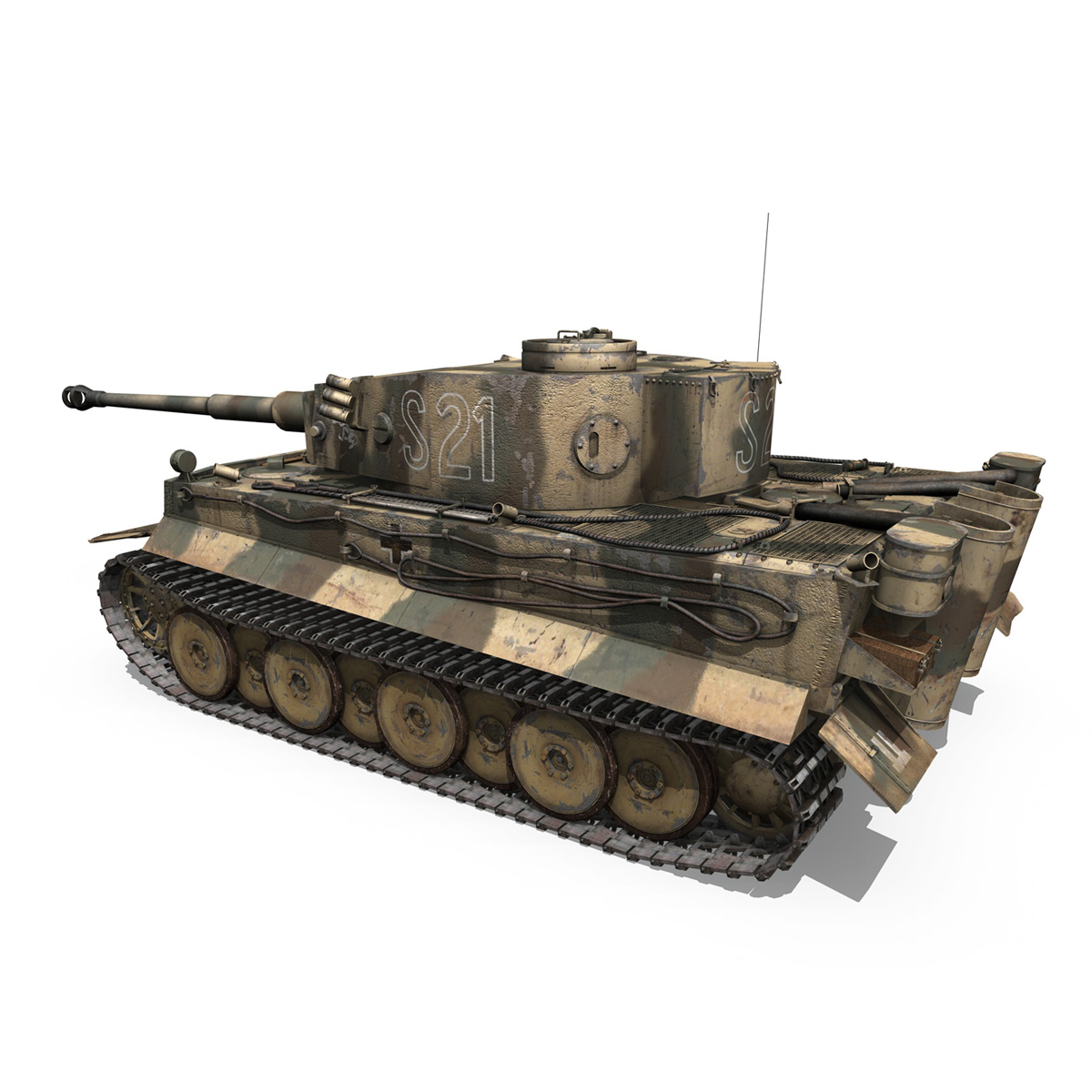 panzer vi – tiger – s21 – early production 3d model 3ds c4d lwo 279372