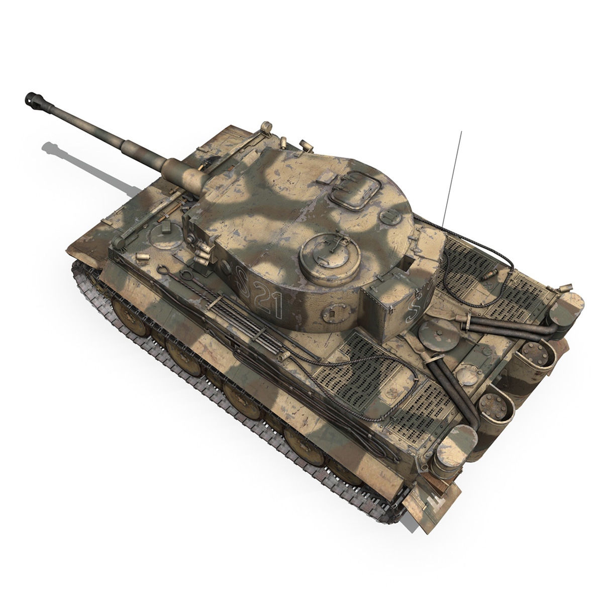 panzer vi – tiger – s21 – early production 3d model 3ds c4d lwo 279373