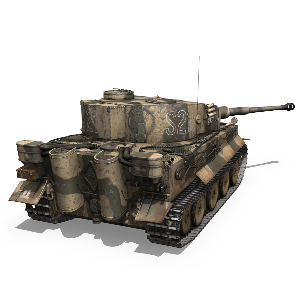 panzer vi – tiger – s21 – early production 3d model 3ds c4d lwo 279374
