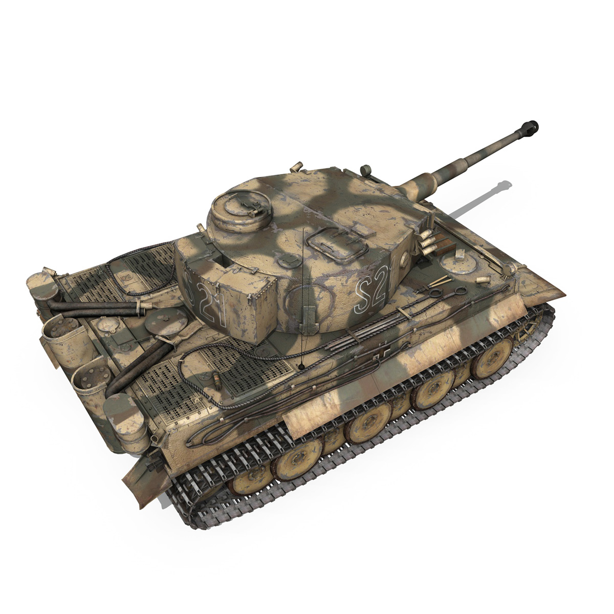panzer vi – tiger – s21 – early production 3d model 3ds c4d lwo 279375