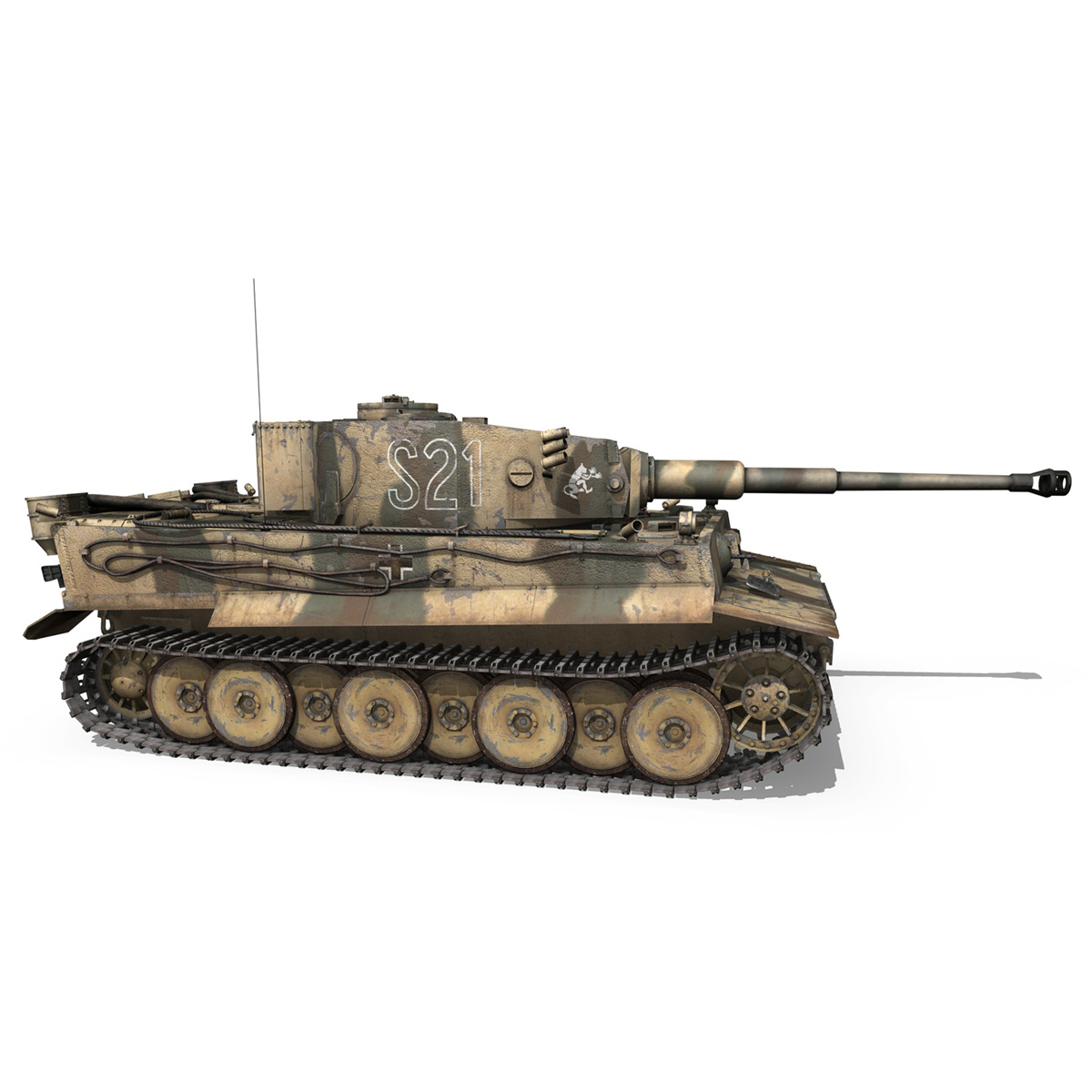 panzer vi – tiger – s21 – early production 3d model 3ds c4d lwo 279376