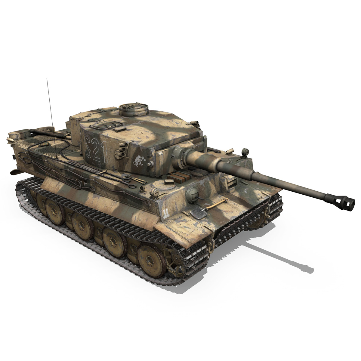 panzer vi – tiger – s21 – early production 3d model 3ds c4d lwo 279377