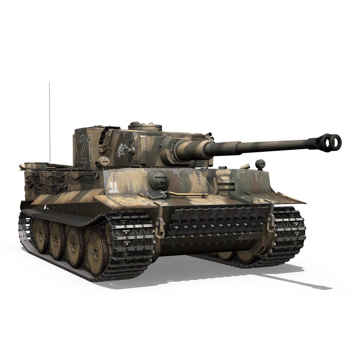 panzer vi – tiger – s21 – early production 3d model 3ds c4d lwo 279378