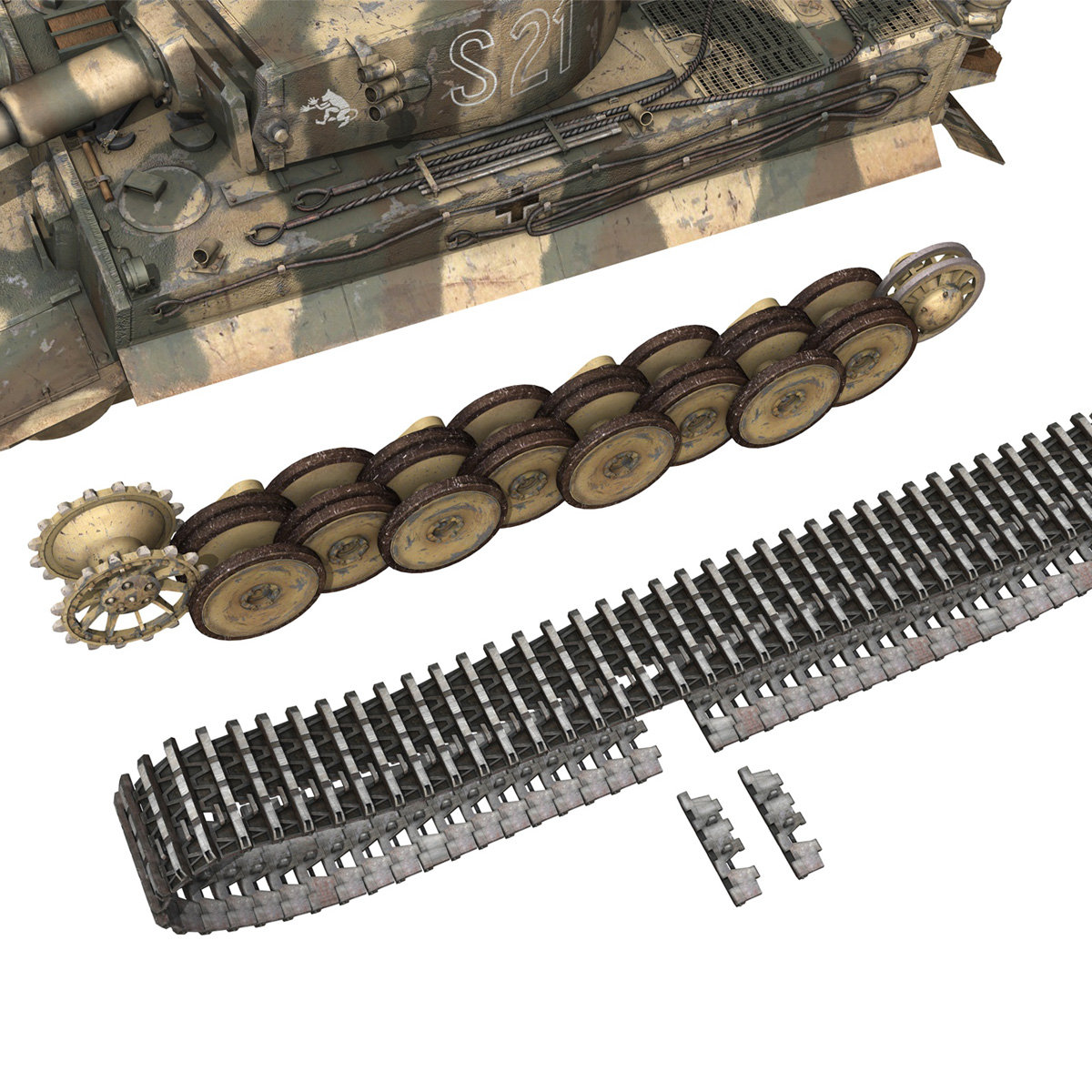 panzer vi – tiger – s21 – early production 3d model 3ds c4d lwo 279379