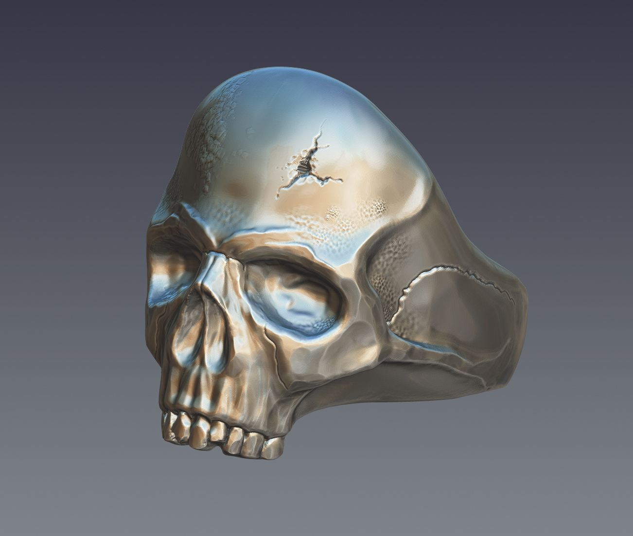 skull ring 3d model  obj ztl 279393