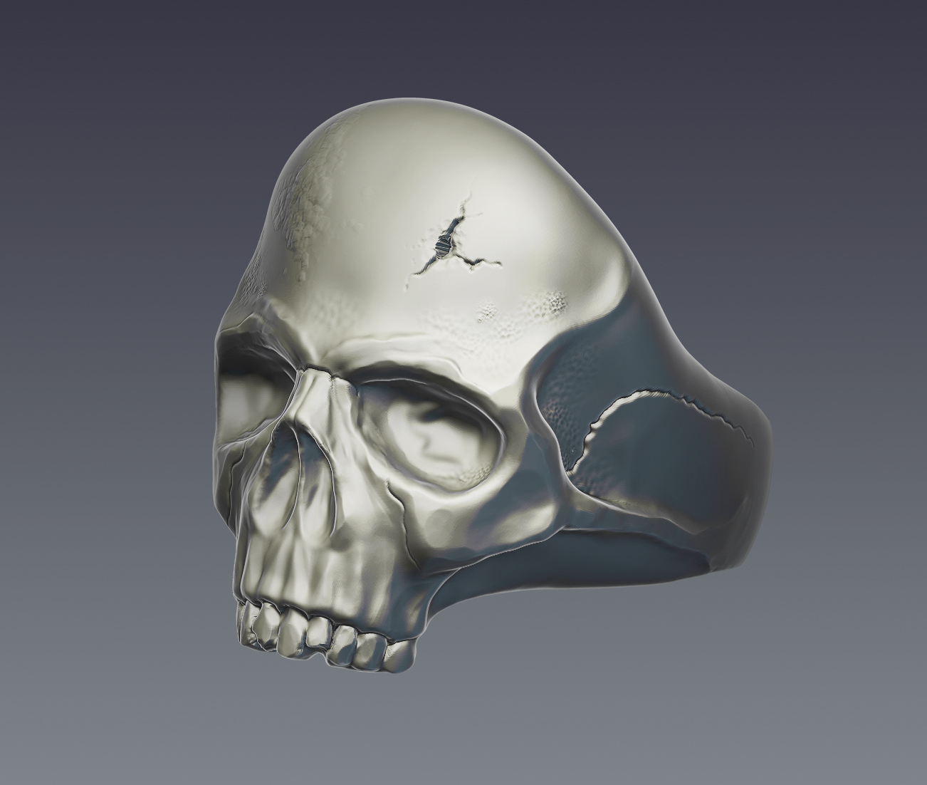 skull ring 3d model  obj ztl 279394
