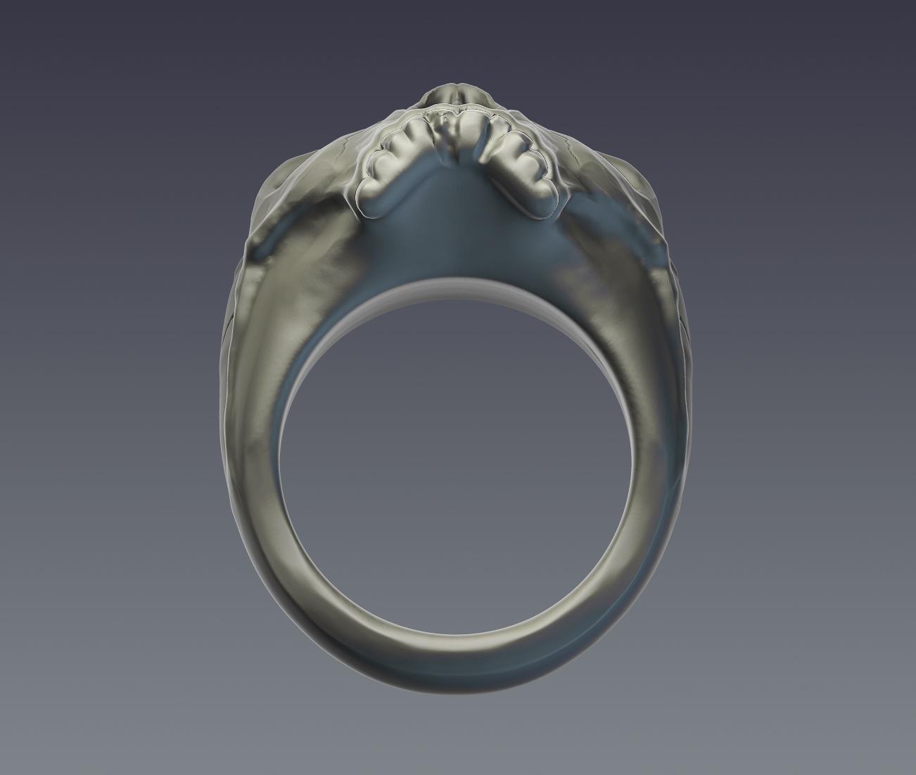 skull ring 3d model  obj ztl 279396