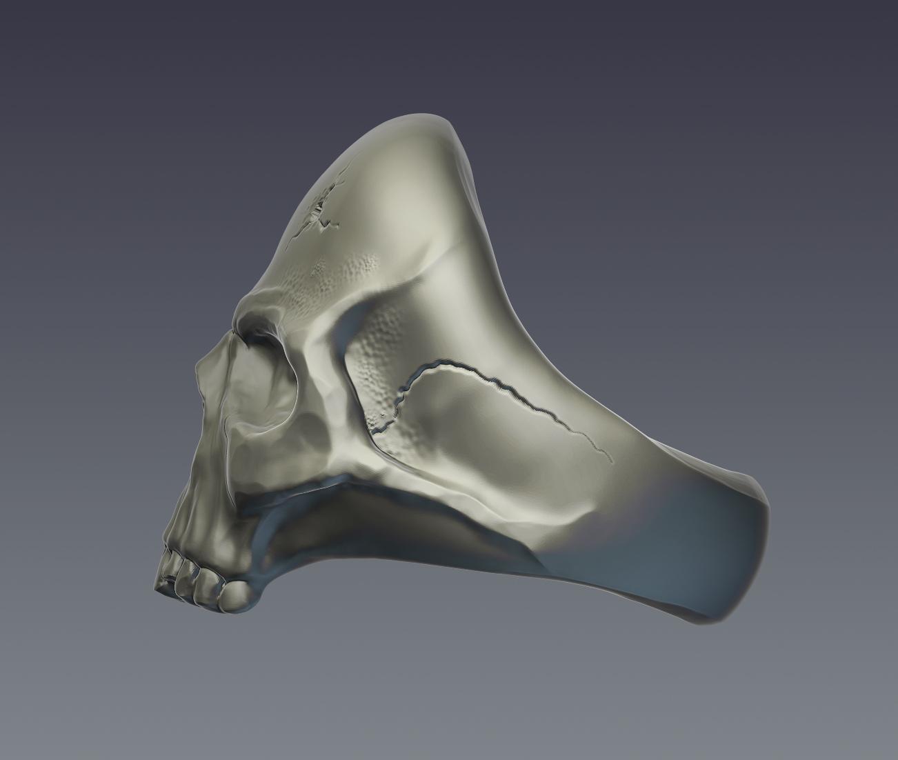 skull ring 3d model  obj ztl 279397