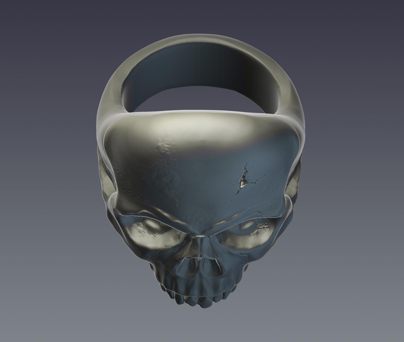 skull ring 3d model  obj ztl 279398