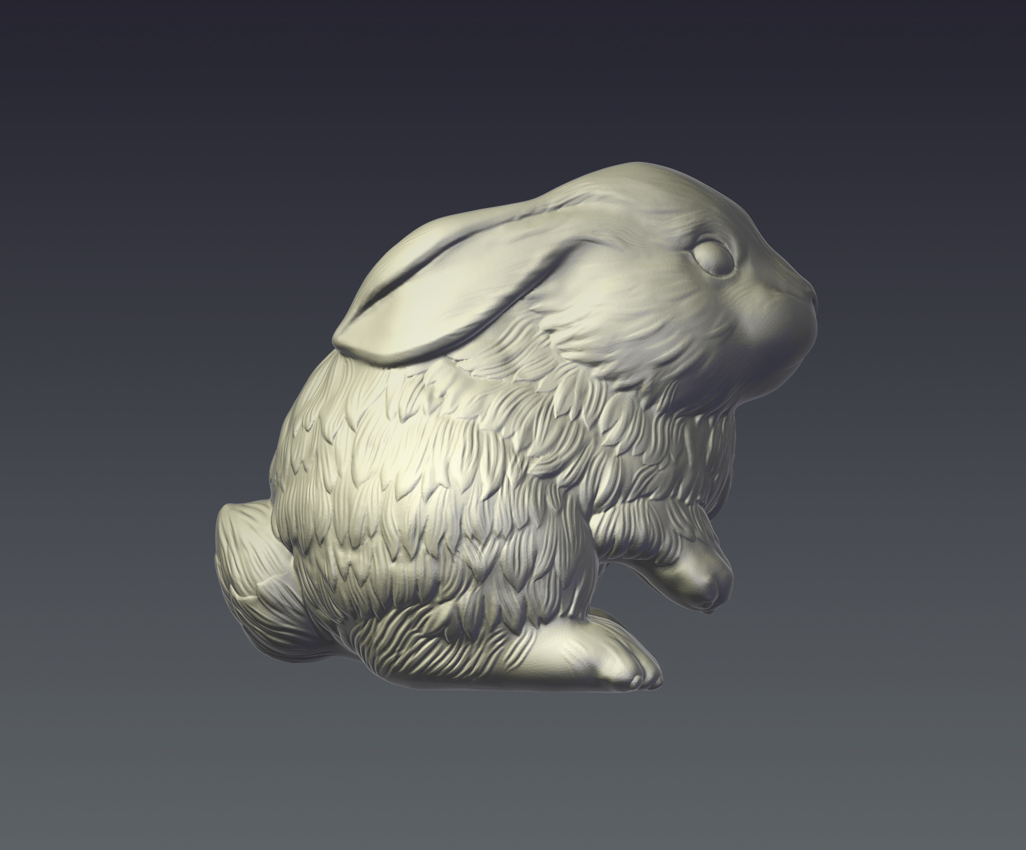 rabbit model for 3d print 3d model  obj ztl 279402