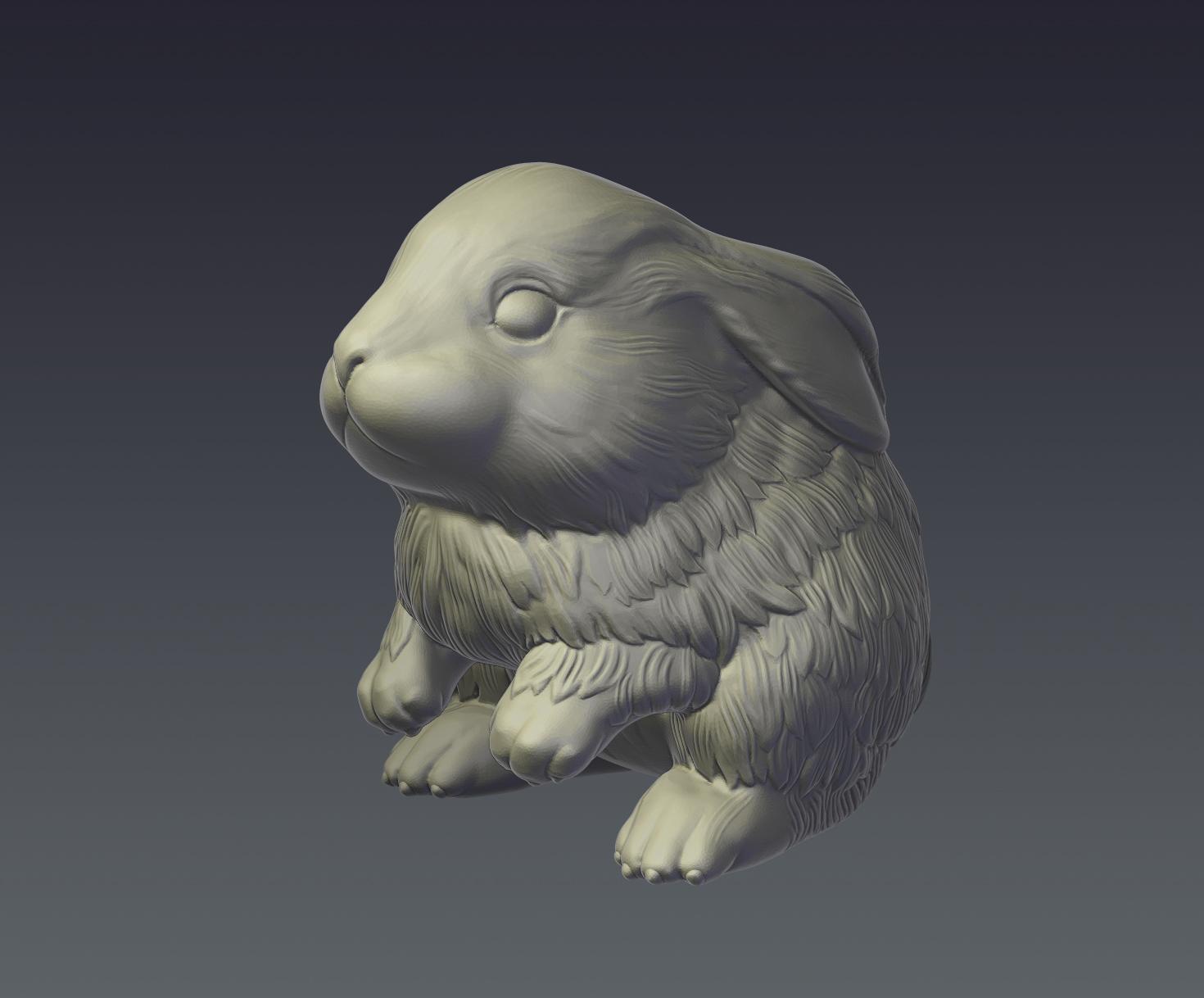 rabbit model for 3d print 3d model  obj ztl 279403