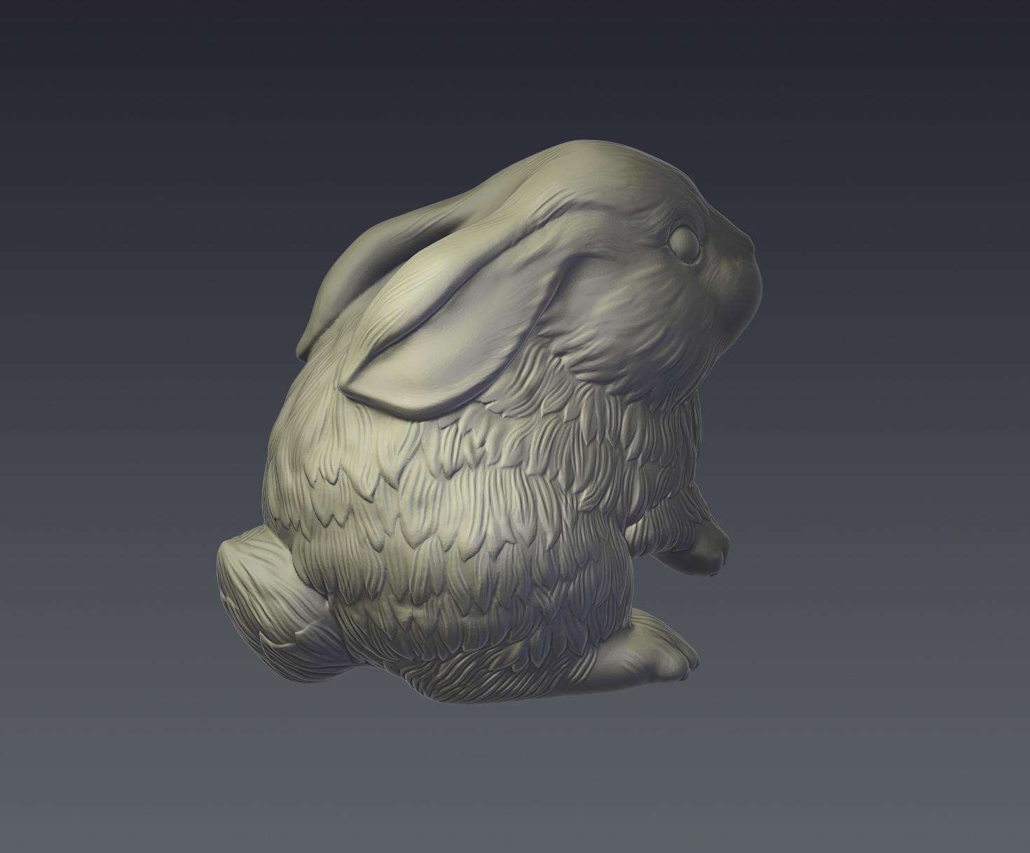 rabbit model for 3d print 3d model  obj ztl 279404
