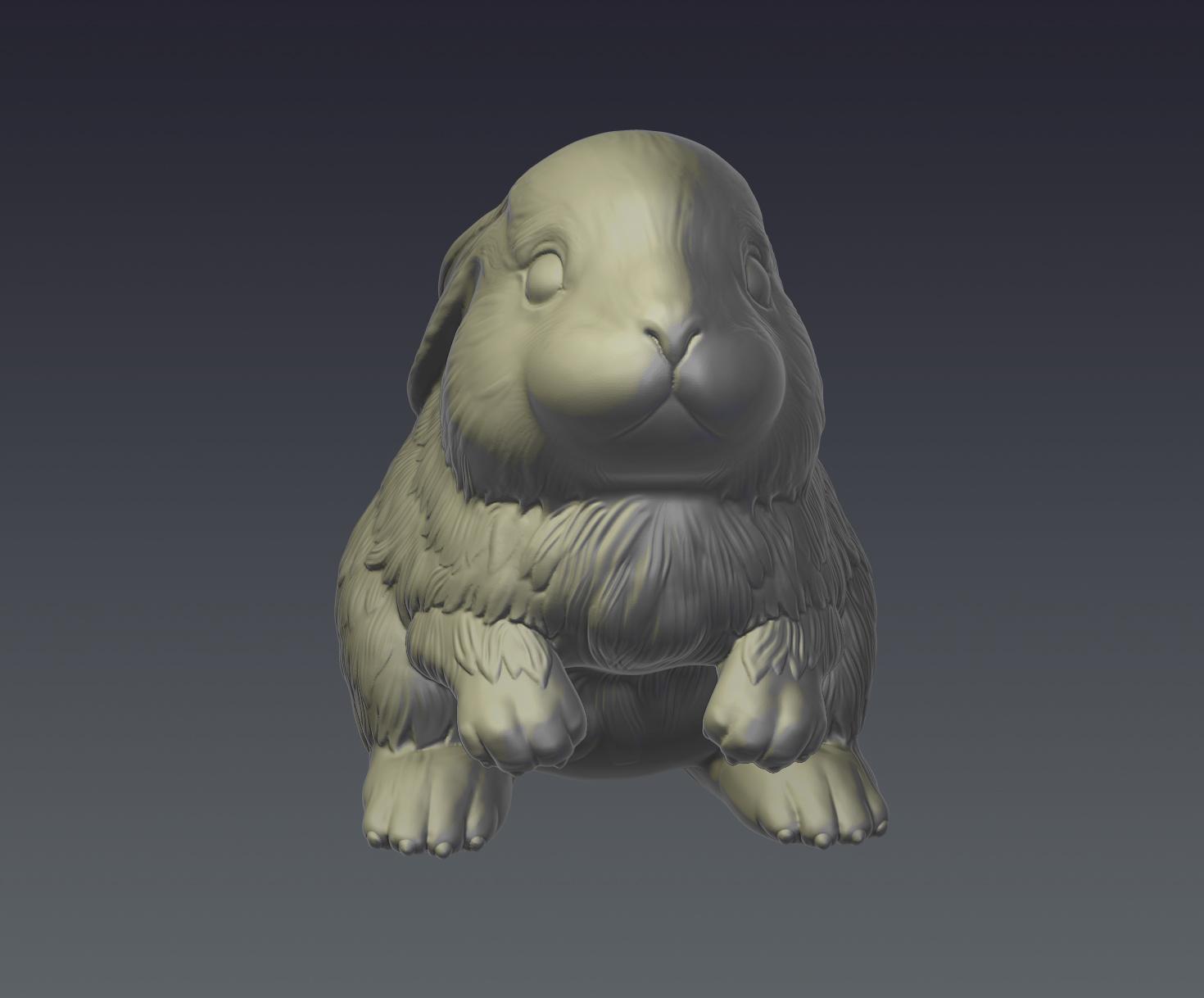 rabbit model for 3d print 3d model  obj ztl 279405