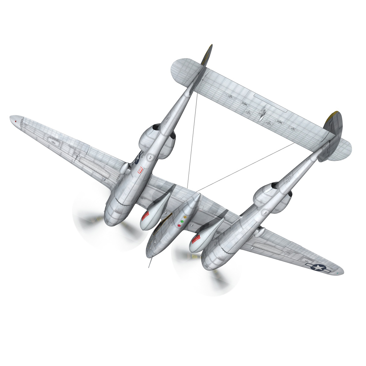 lockheed p-38 lightning – florida cracker 3d model fbx c4d lwo obj 279418