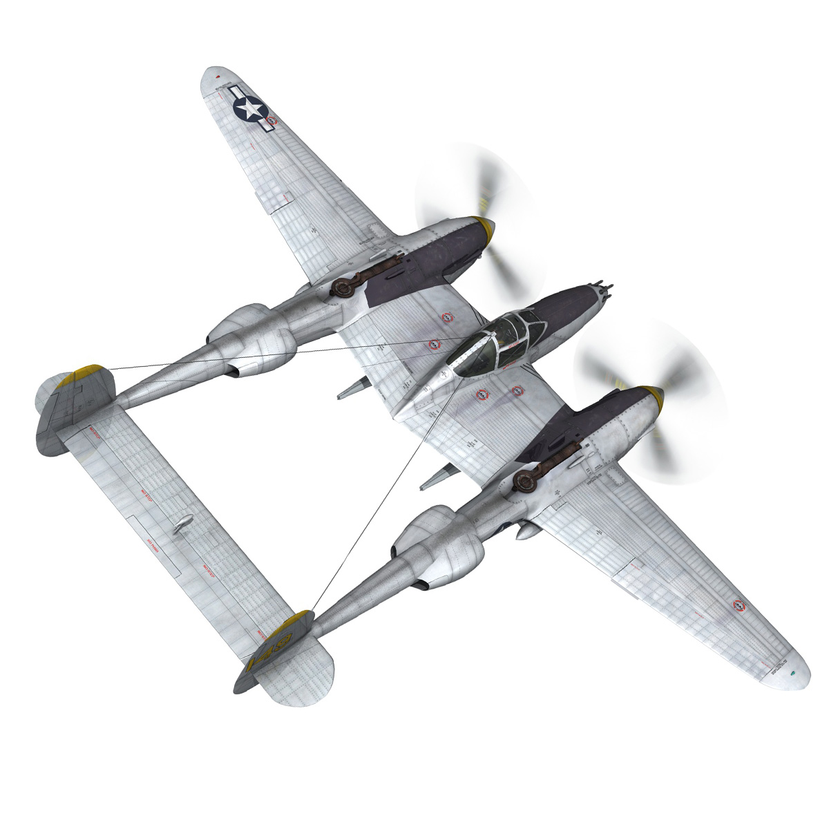 lockheed p-38 lightning – florida cracker 3d model fbx c4d lwo obj 279419