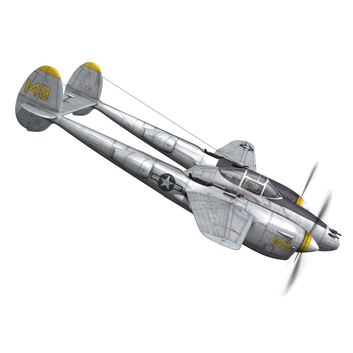 lockheed p-38 lightning – florida cracker 3d model fbx c4d lwo obj 279420