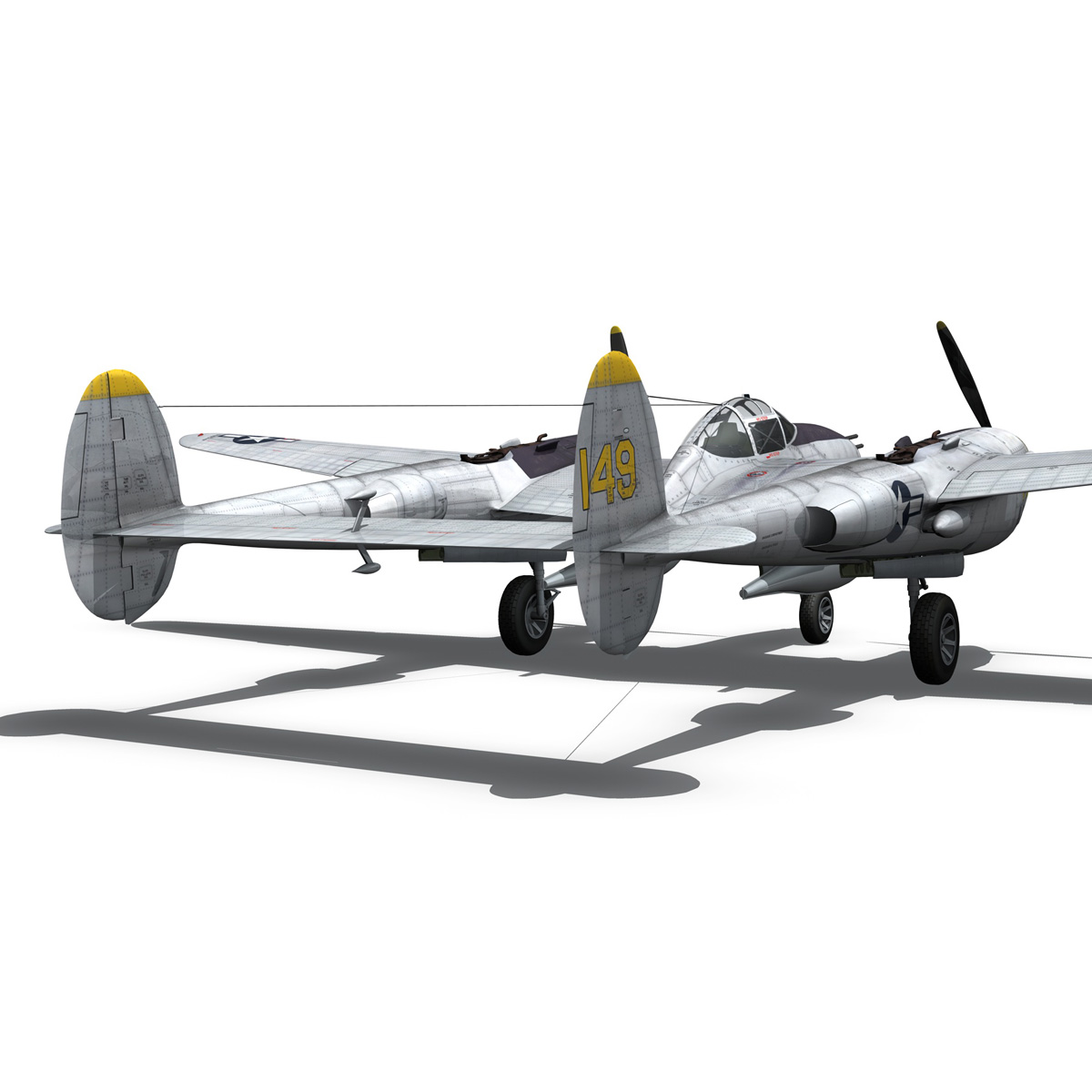 lockheed p-38 lightning – florida cracker 3d model fbx c4d lwo obj 279426
