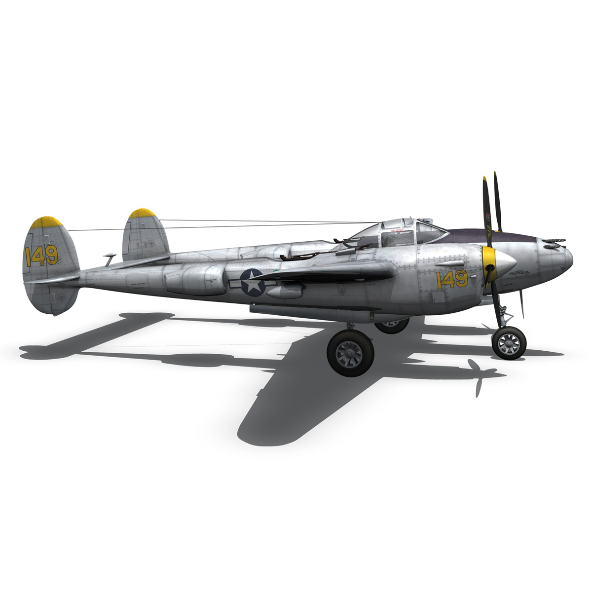 lockheed p-38 lightning – florida cracker 3d model fbx c4d lwo obj 279427