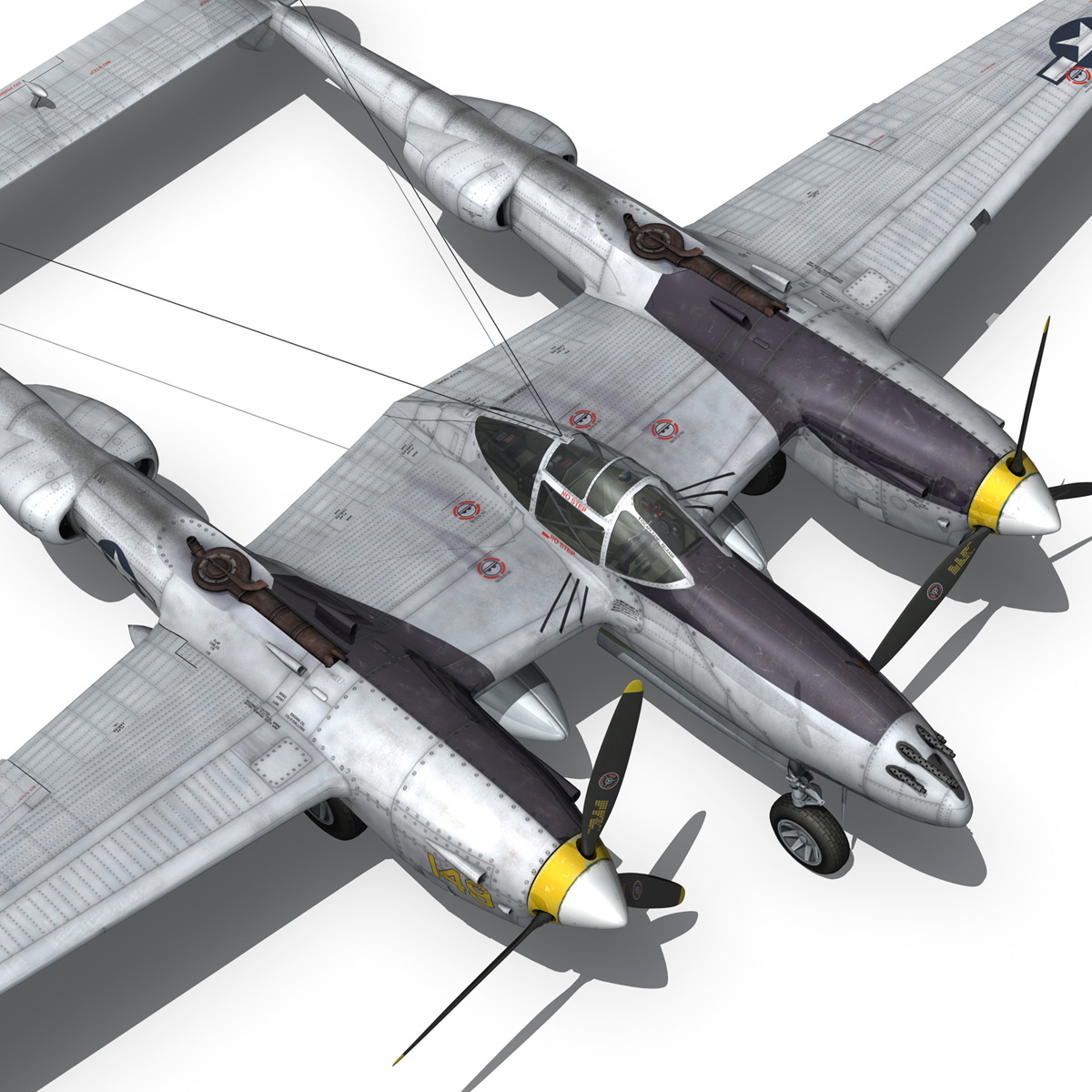 lockheed p-38 lightning – florida cracker 3d model fbx c4d lwo obj 279428