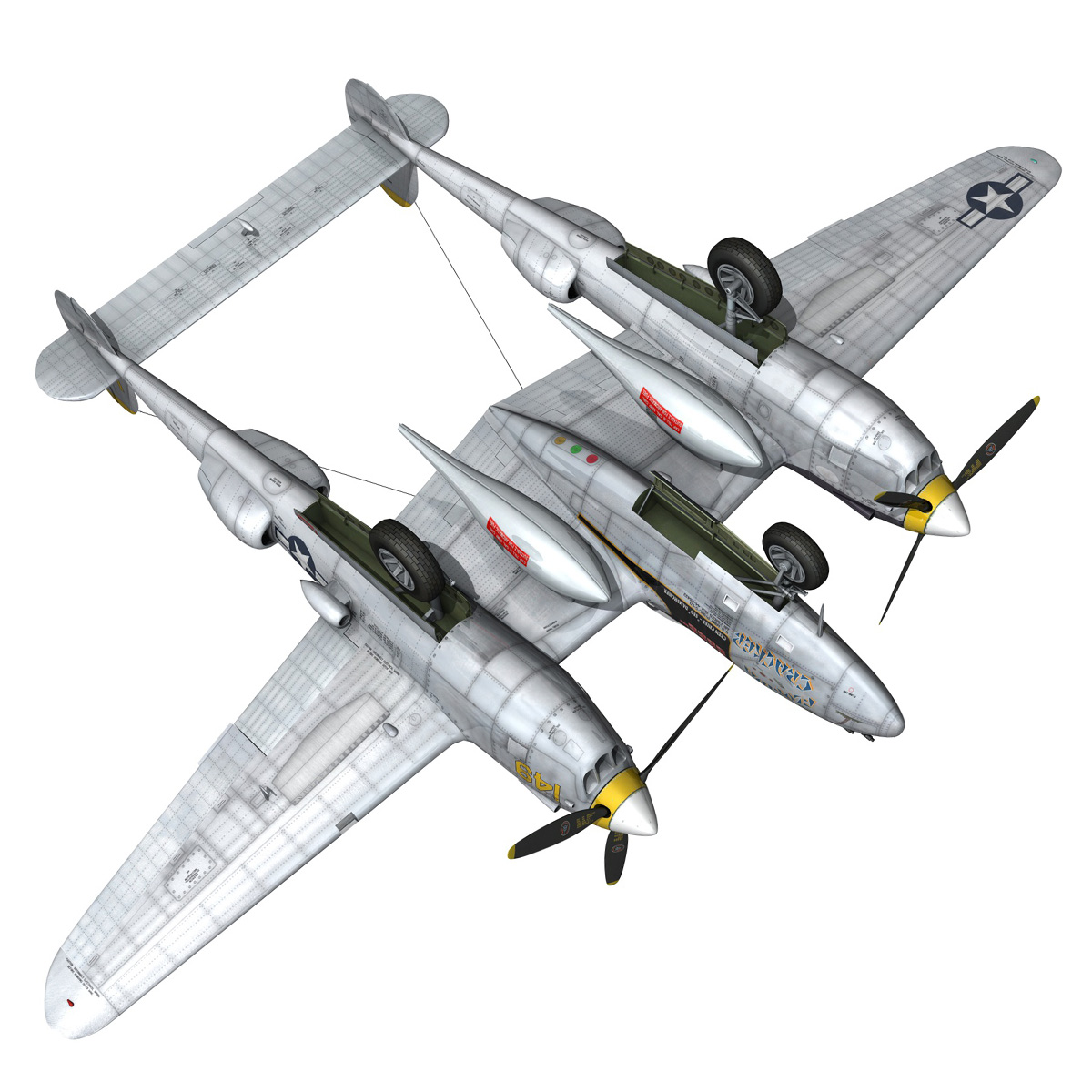 lockheed p-38 lightning – florida cracker 3d model fbx c4d lwo obj 279430
