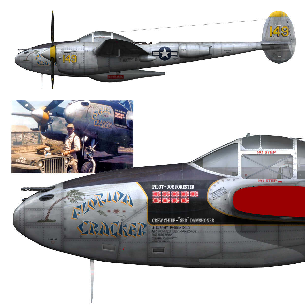 lockheed p-38 lightning – florida cracker 3d model fbx c4d lwo obj 279431