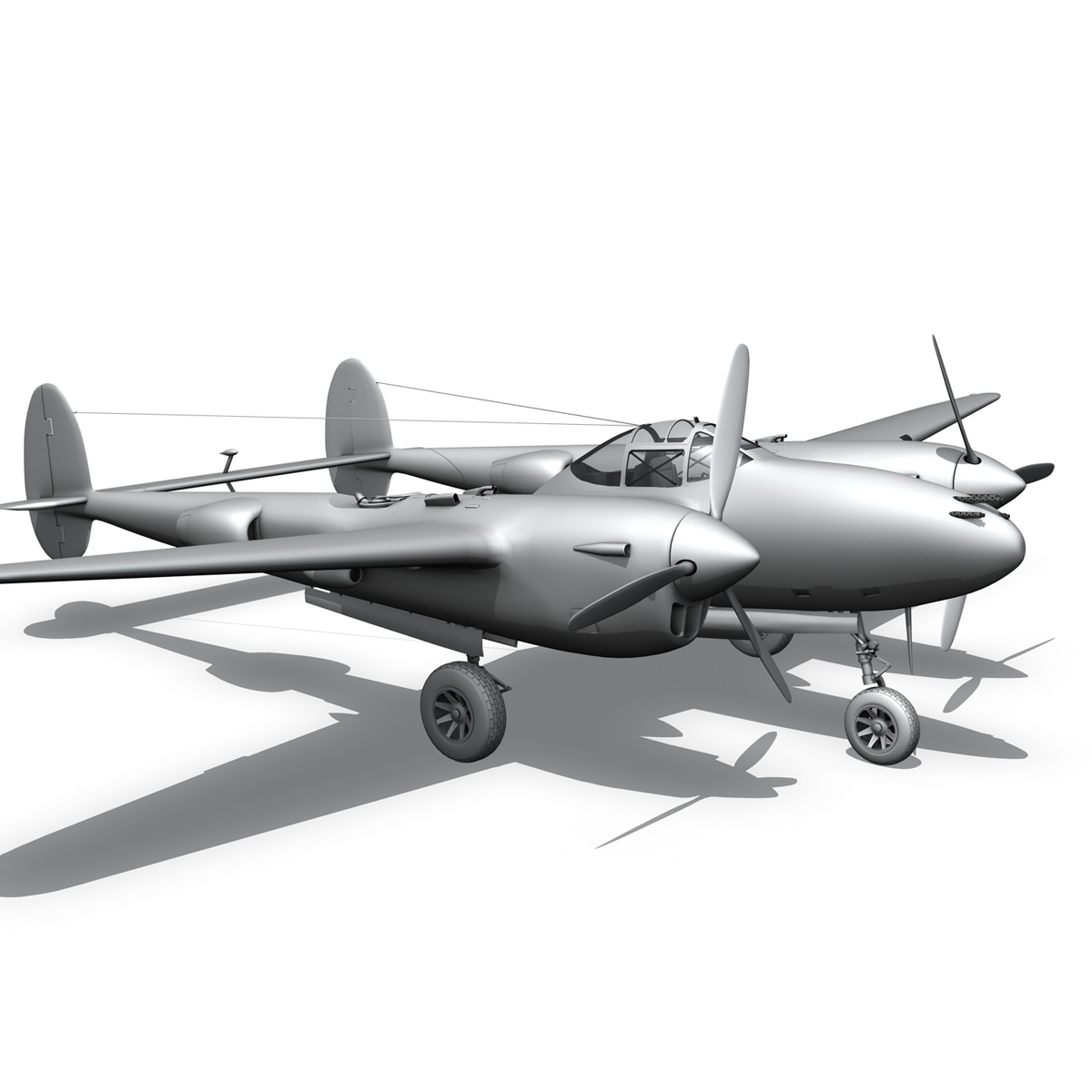 lockheed p-38 lightning – florida cracker 3d model fbx c4d lwo obj 279432