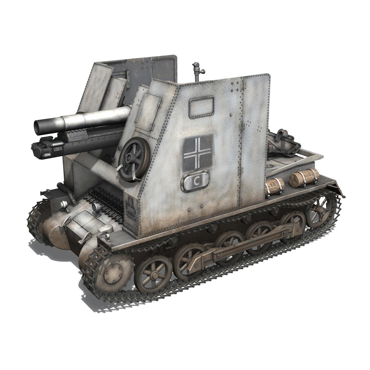 sturmpanzer1 bison 5pzdiv 3d model 3ds lwo lw lws obj c4d 279497