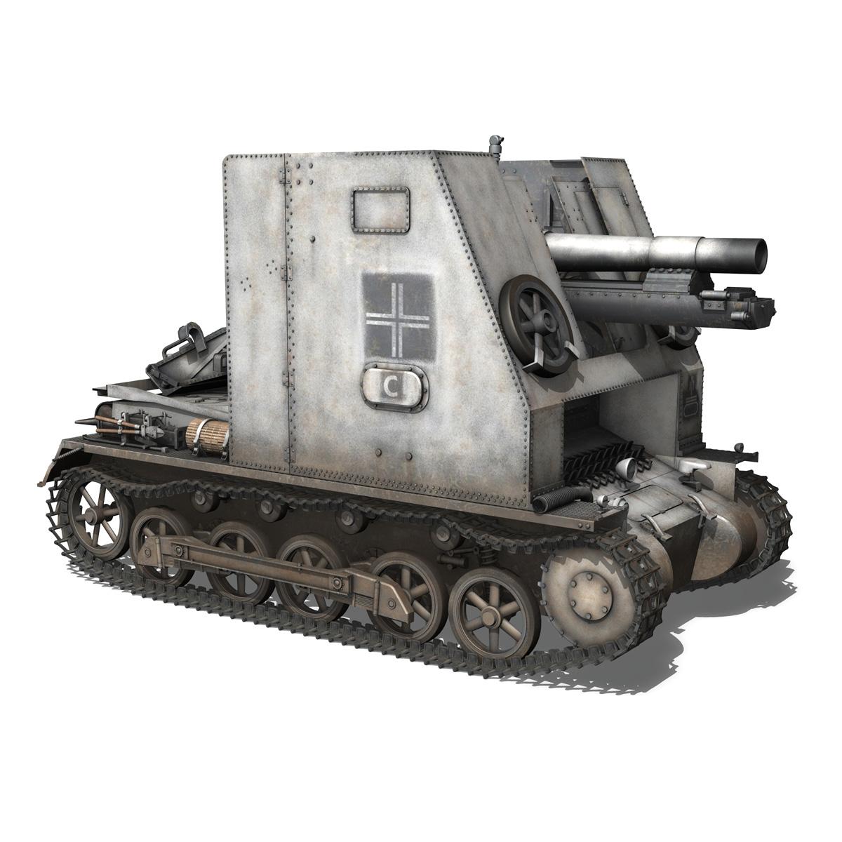 sturmpanzer1 bison 5pzdiv 3d model 3ds lwo lw lws obj c4d 279501