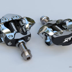 Clipless Shimano SPD Pedals 3d model high poly render ready 3d printing max fbx c4d lxo