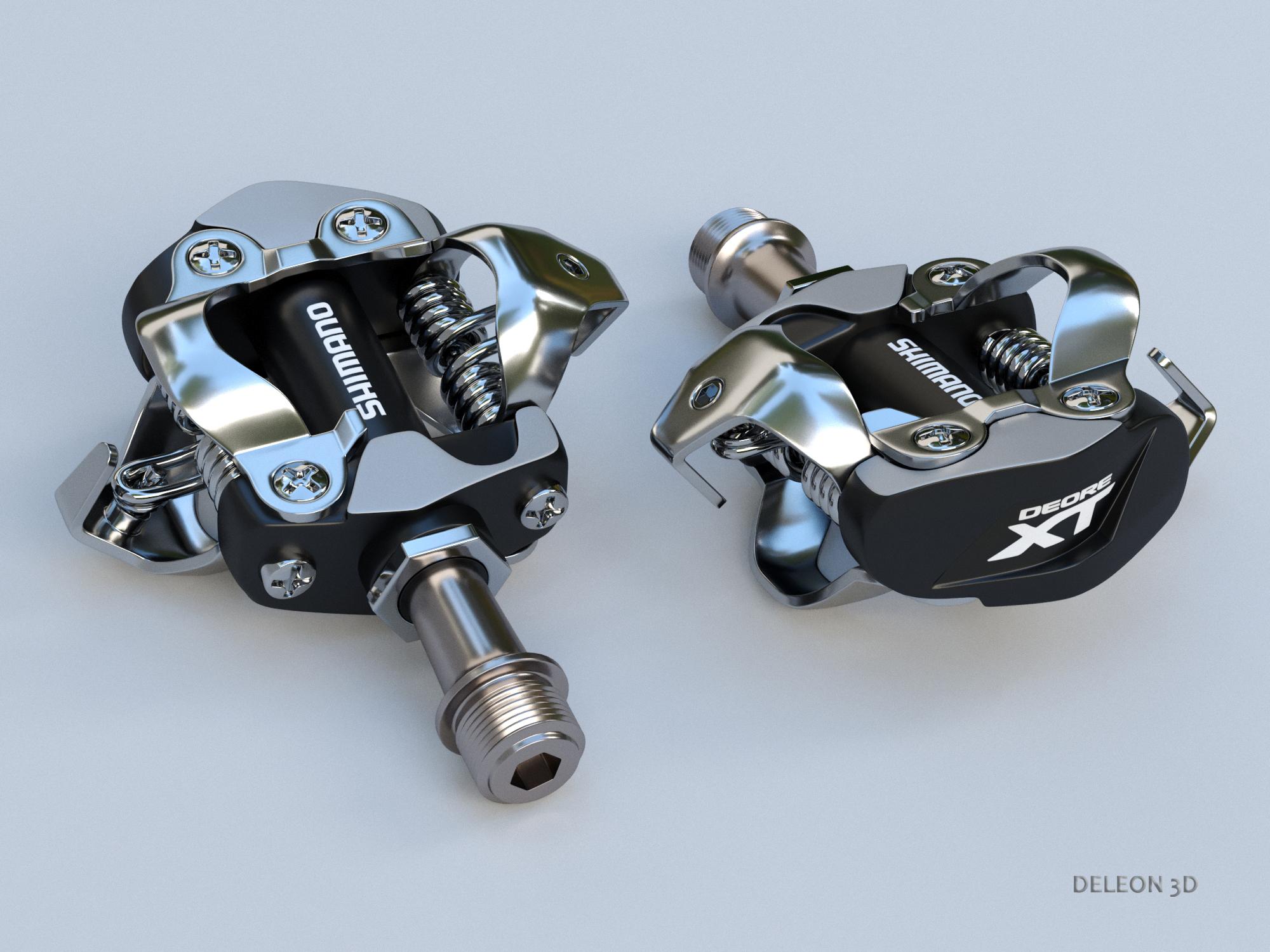 clipless shimano spd pedals 3d model max fbx c4d lxo 279526