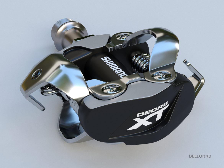 clipless shimano spd pedals 3d model max fbx c4d lxo 279527